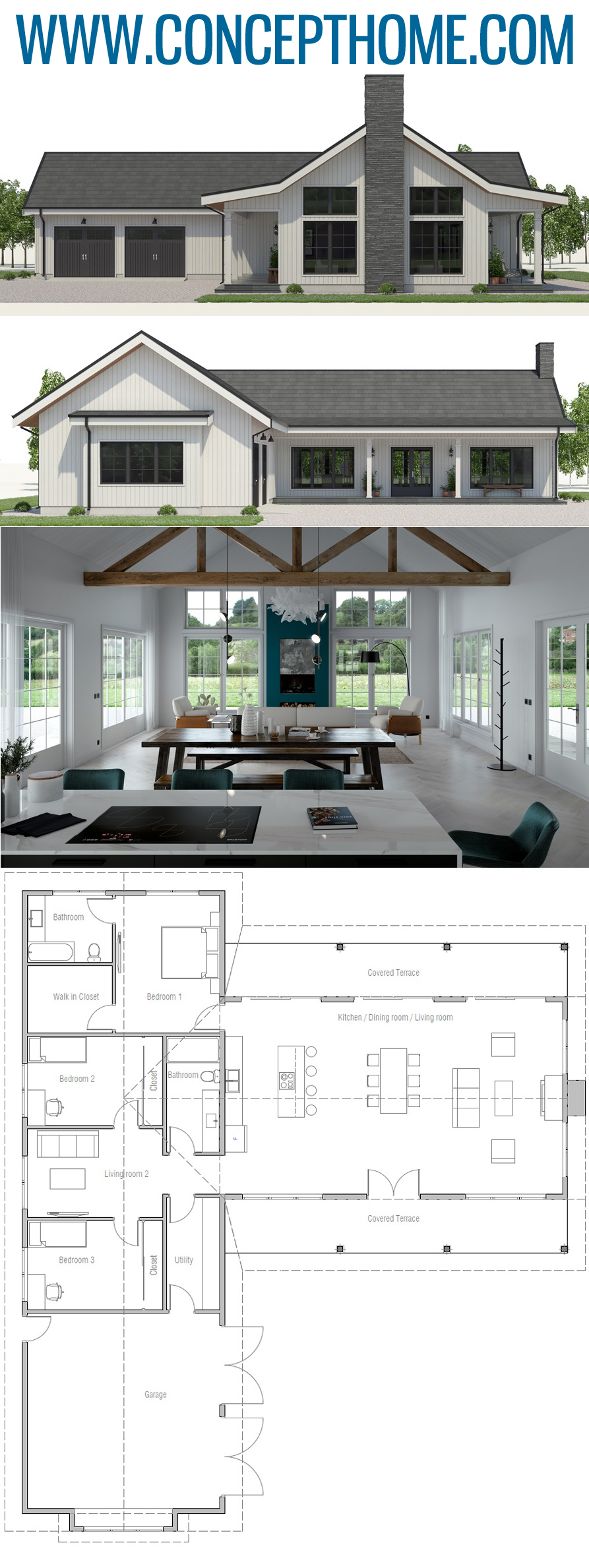 Home Plan Ch567 Lake House Plans House Projects Architecture Dream House Plans