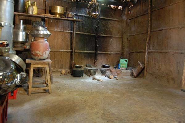 Rural Indian Sweepers Photo 9 Walls And Floor Are Plastered With