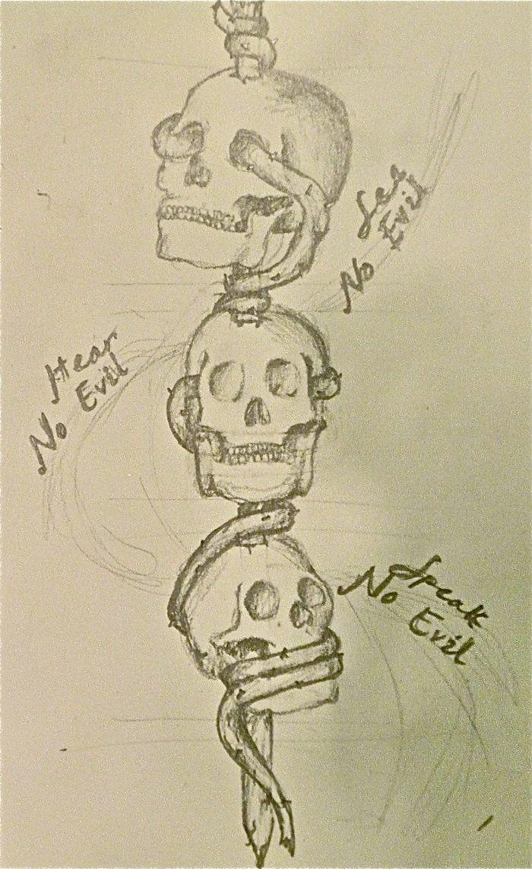 See No Evil Tattoo Designs | See No Evil, Hear No Evil, Speak No Evil by bcodner93
