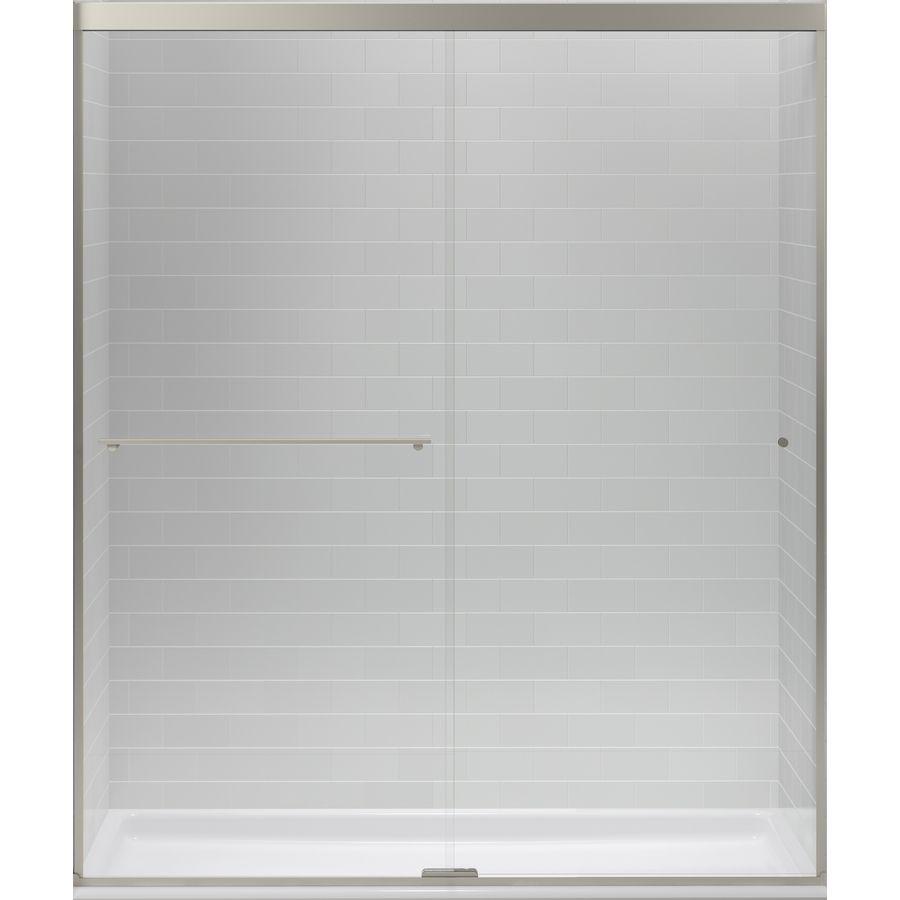 Shop Kohler Revel 56625 In To 59625 In W X 70 In H Brushed Nickel