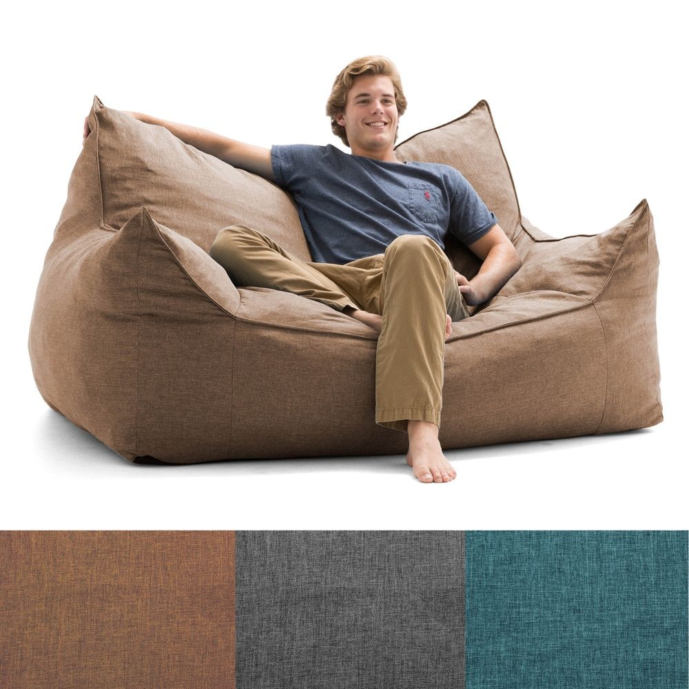 Cool Fufsack Big Joe Lux Imperial Linen Memory Foam Bean Bag Ibusinesslaw Wood Chair Design Ideas Ibusinesslaworg