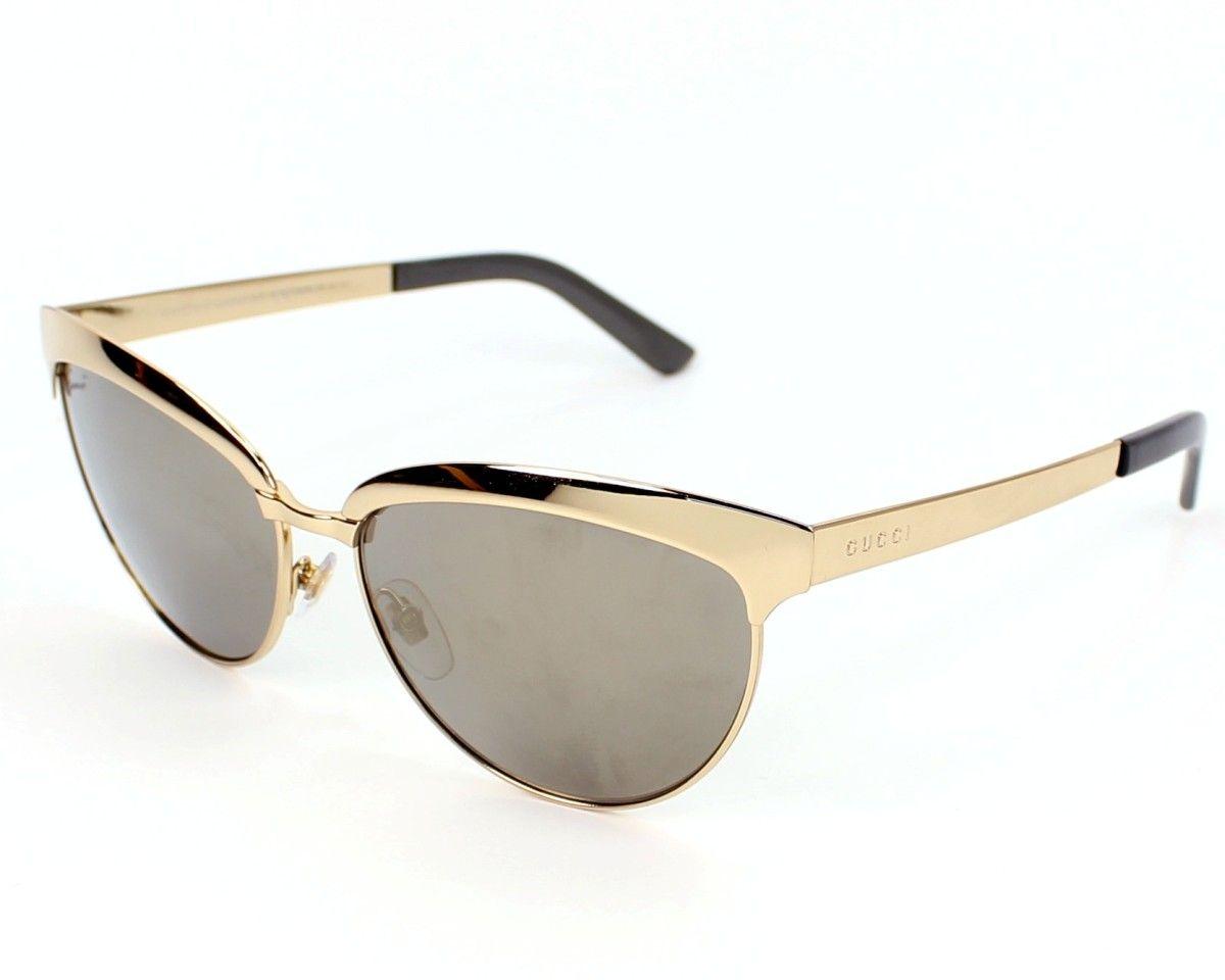 39eb1cde1434fe Achetez en ligne les lunettes de soleil Gucci Or et recevez-les chez vous  sous jours et la livraison est gratuite !