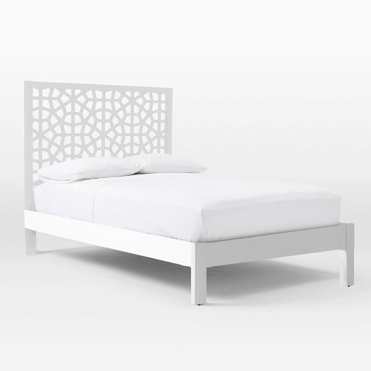 Morocco Bed White Simple Bed Bed Frame Simple Bed Frame