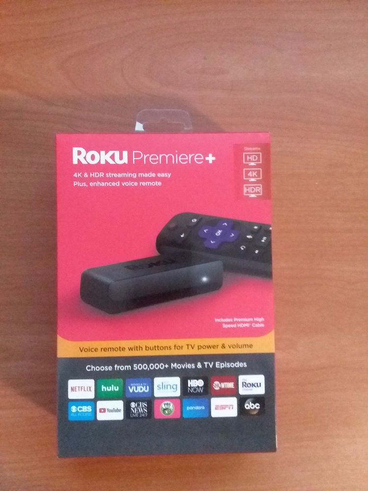 NEW Roku Premiere Plus 4KHDRHD Media Streamer with Voice Remote 3921RW