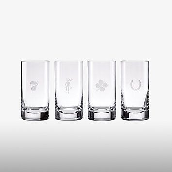 kate spade new york Fortunada Highball Glasses, Set of 4
