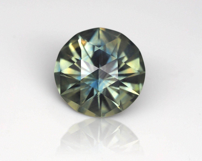 6d9e28837ddee 6 mm. Natural, untreated Australian Parti Sapphire. 0.95 ct. Custom ...