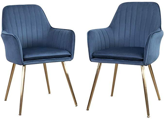 DMF Furniture Modern Velvet Accent Chair Set