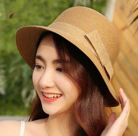 2017 new bow bucket hat for women uv protection effect hats  da14ced4cf8e