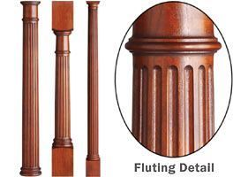 Perfect Fluted Wood Turnings, Fluted Columns, Fluted Legs, Wood Furniture Parts  #build
