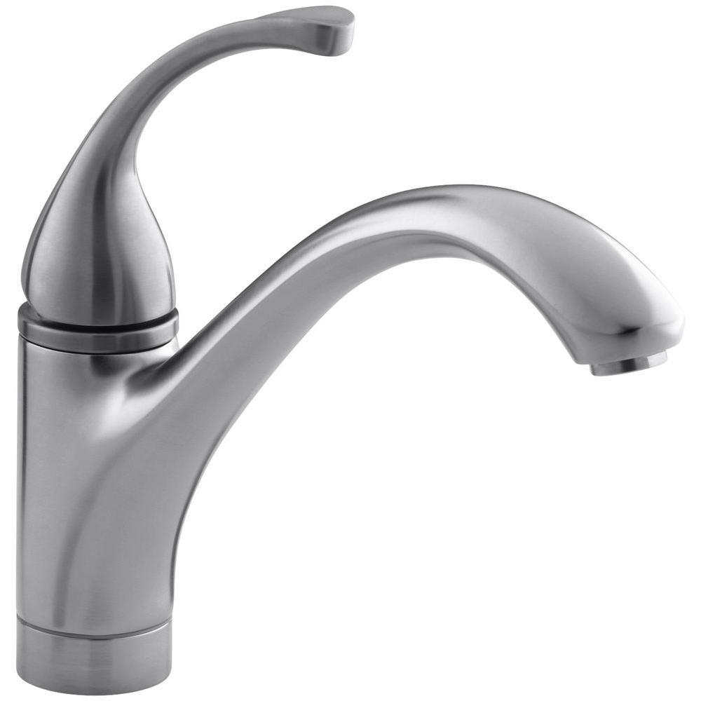 Kohler Forte Single Handle Standard Kitchen Faucet With Lever