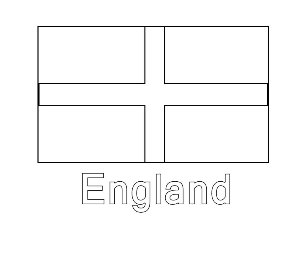 English Britain Uk And England Flag Coloring Pages Free Flag