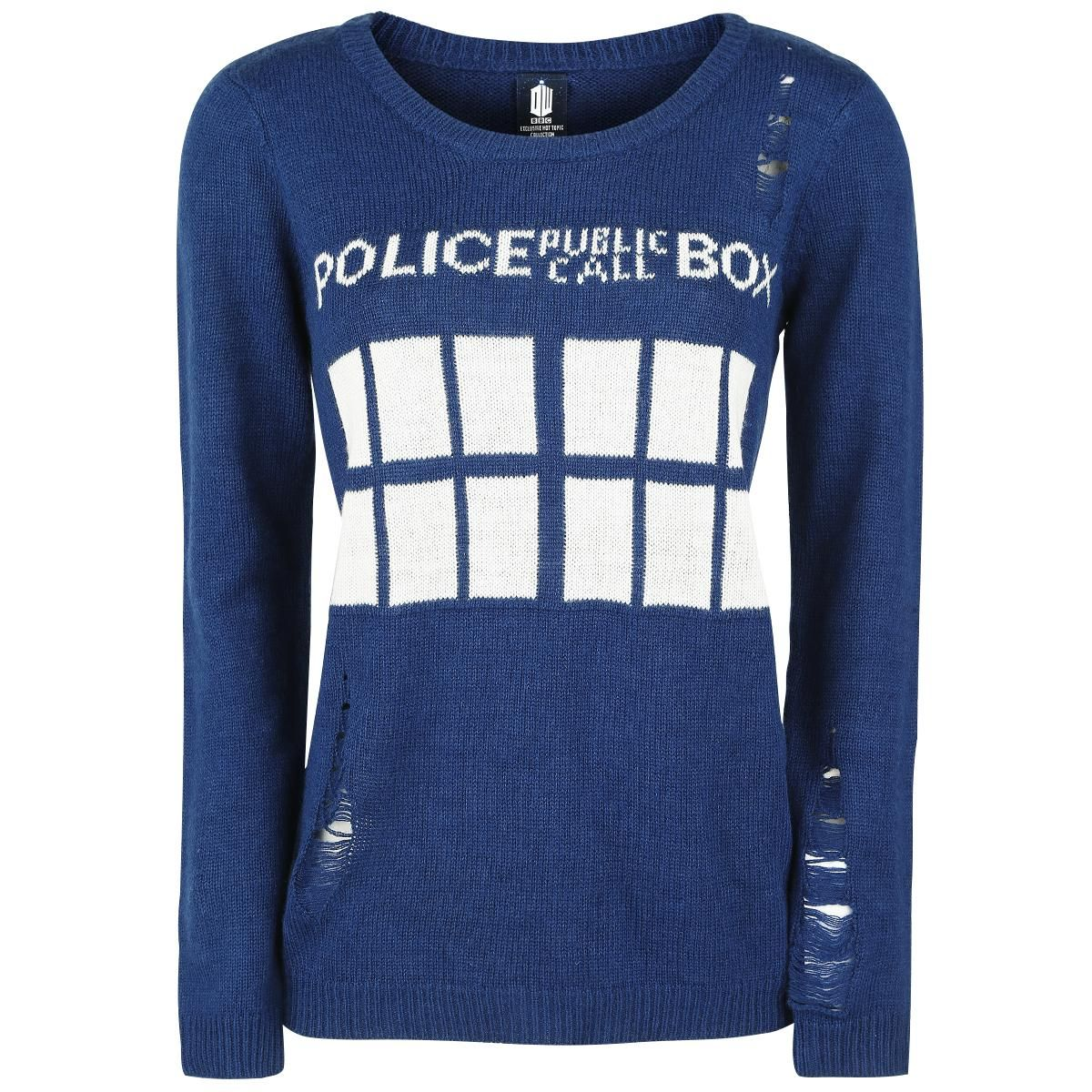 Tardis Intarsia - Strickpullover von Doctor Who   Geek Stuff ...