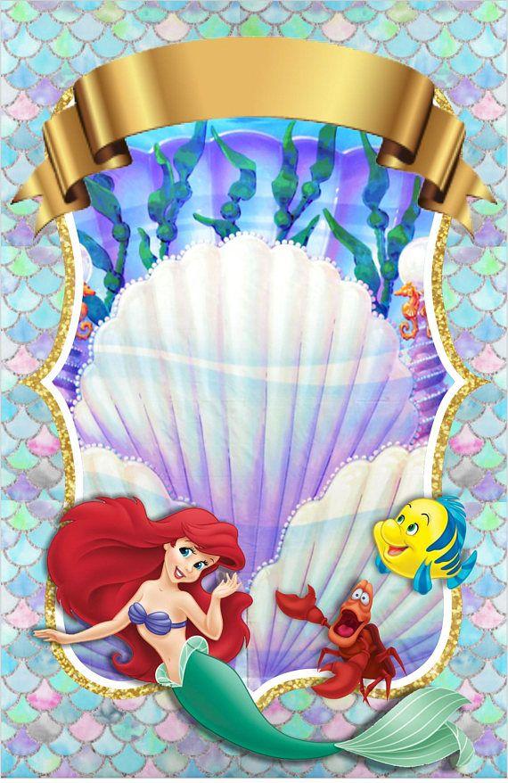Tarjeta De Invitación Digital O Imprimible Mermaids Archivo