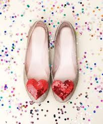 Confetti hearts and shoes