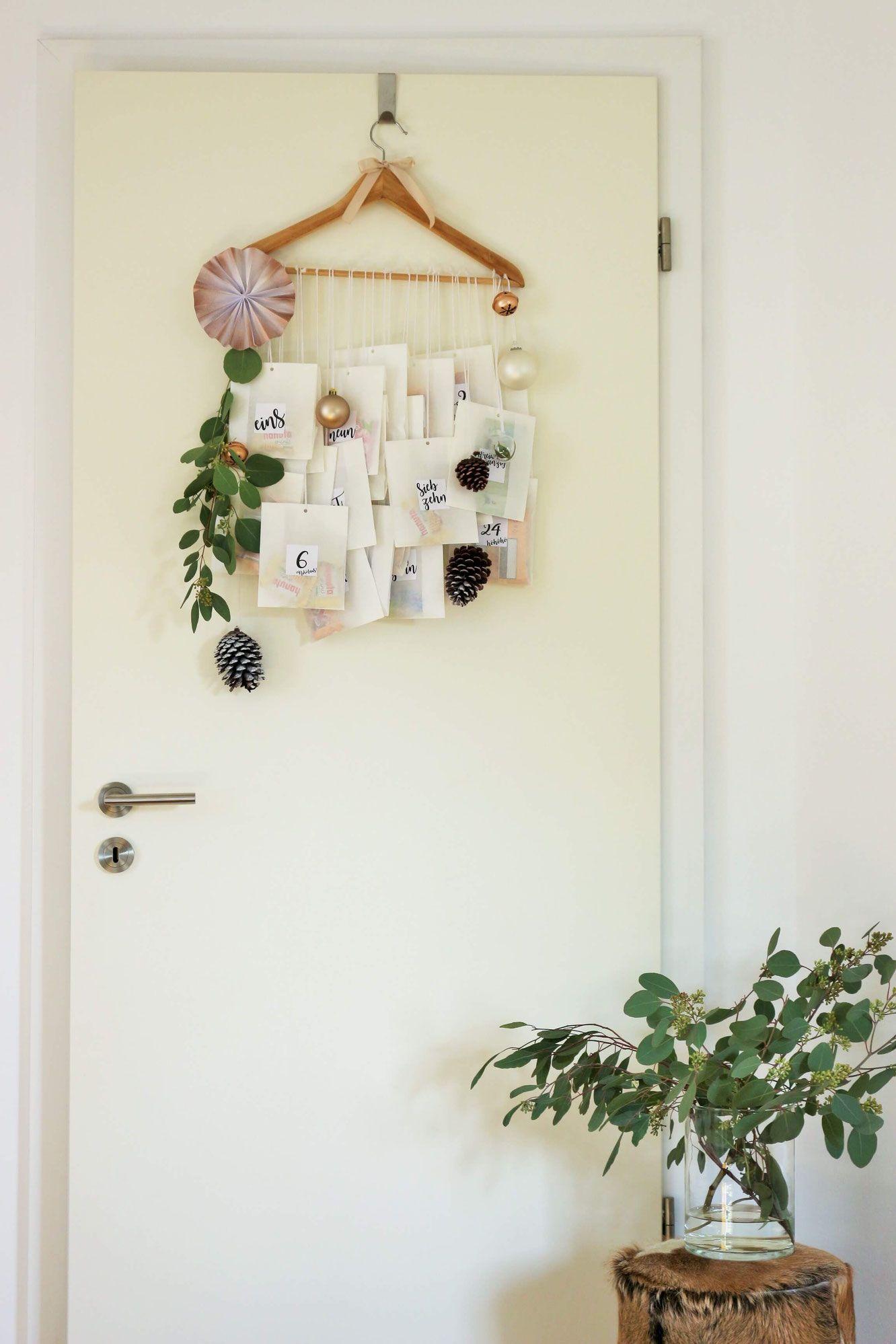 Diy Adventskalender Idee Mit Kleiderb Gel Und Papiert Ten, Inklusive