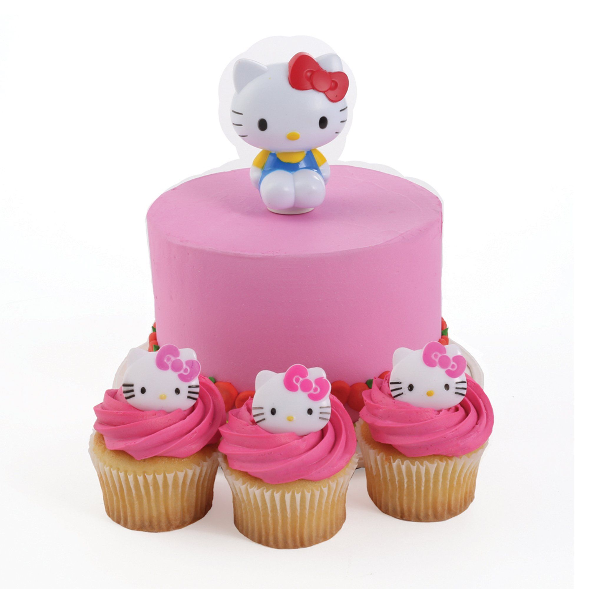 Hello Kitty Spoon Cake Topper and 24 Cupcake Topper Rings