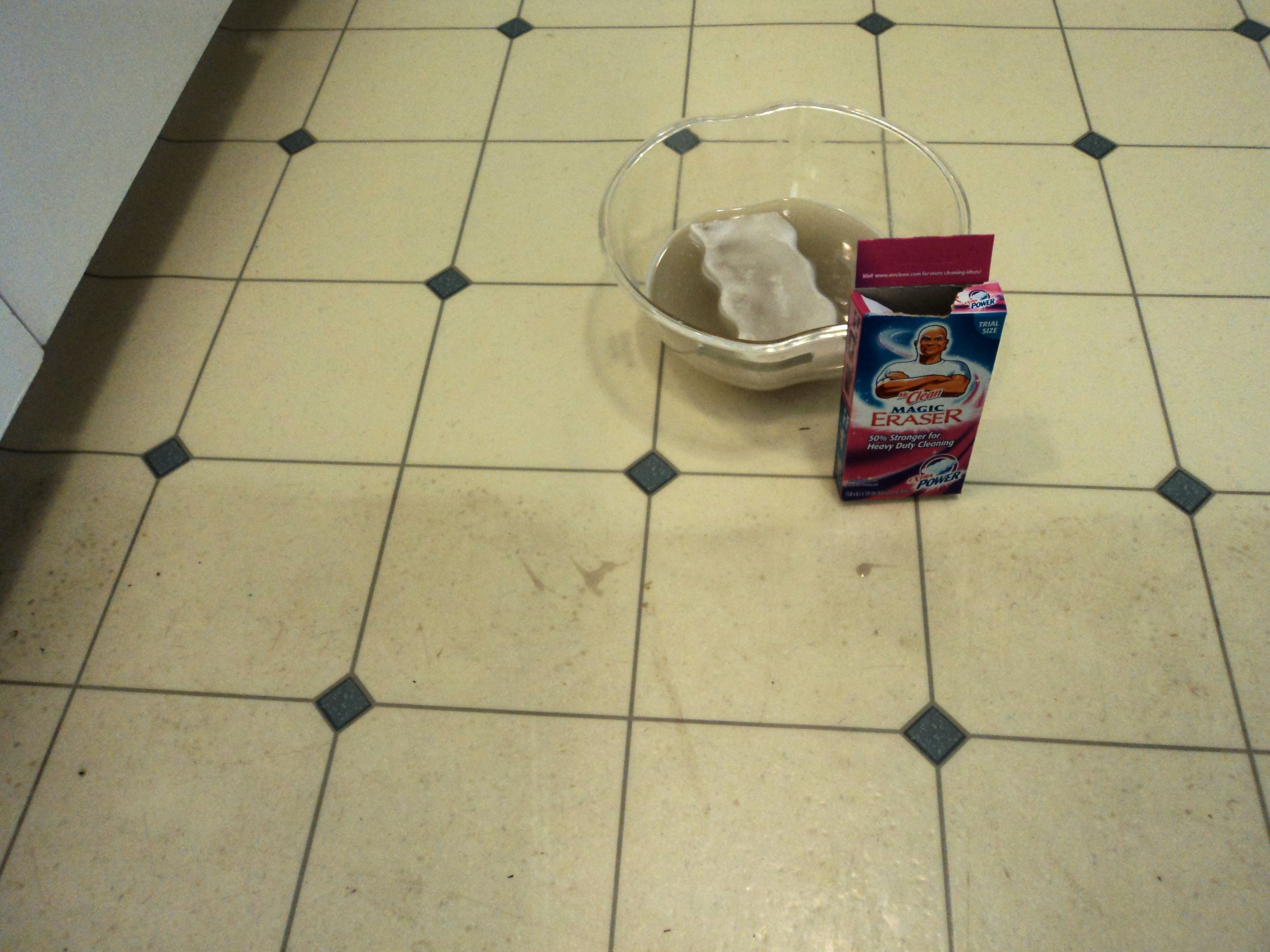 for cleaning kitchen linoleum when mopping isn't enough! i used to
