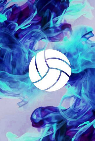 Download Volleyball Blue Flames Wallpaper | CellularNews