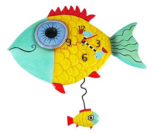 Allen Designs Wide Eyed Fishy Pendulum Wall Clock Fish >>> More info ...