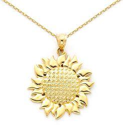 Gold Sunflower Necklace Sunflower Jewelry Sunflower Necklace Jewelry