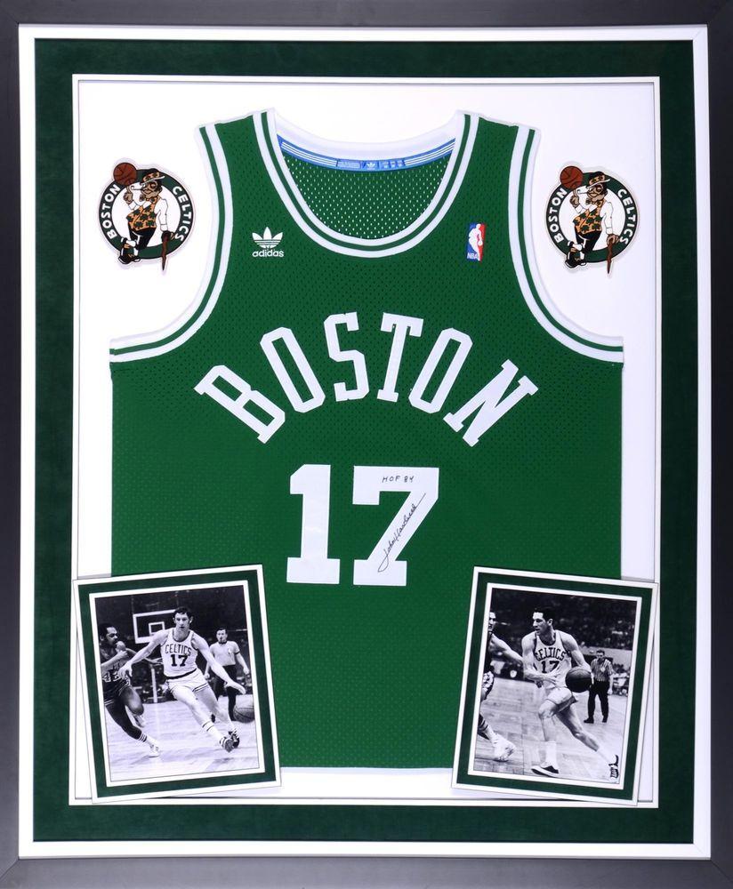 buy online 76ca6 175e9 John Havlicek Boston Celtics Signed Framed Green Jersey w ...