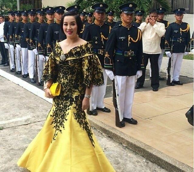 Kris Aquino | Personalities | Pinterest | Filipiniana dress ...