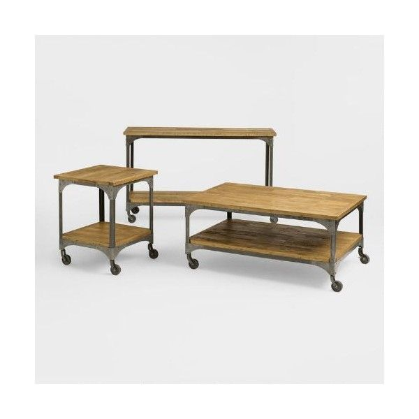 Cost Plus World Market Aiden Coffee Table 290 Liked On Polyvore Featuring Home Furniture Tables Acc Furniture Collection Coffee Table Artisan Furniture