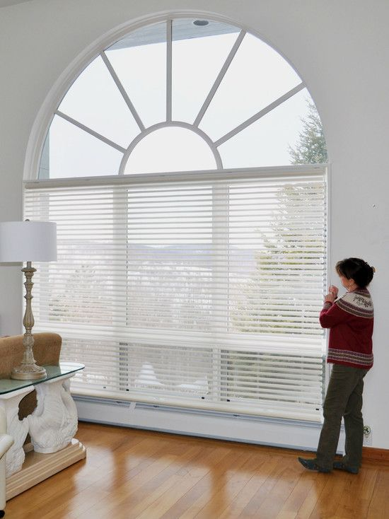 Big Window Shades Great Pleated Shades Compliment The