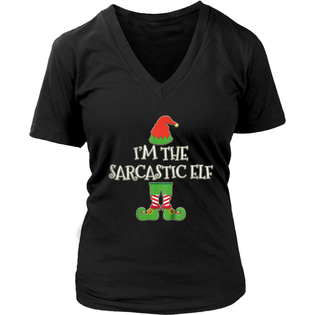 Pro im the sarcastic elf matching family group christmas shirt teefig png  1024x1024 Christmas elf group 9836612b2