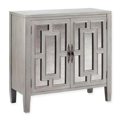 Stein World Cade Accent Cabinet In Smokey Grey Mirror Cabinets