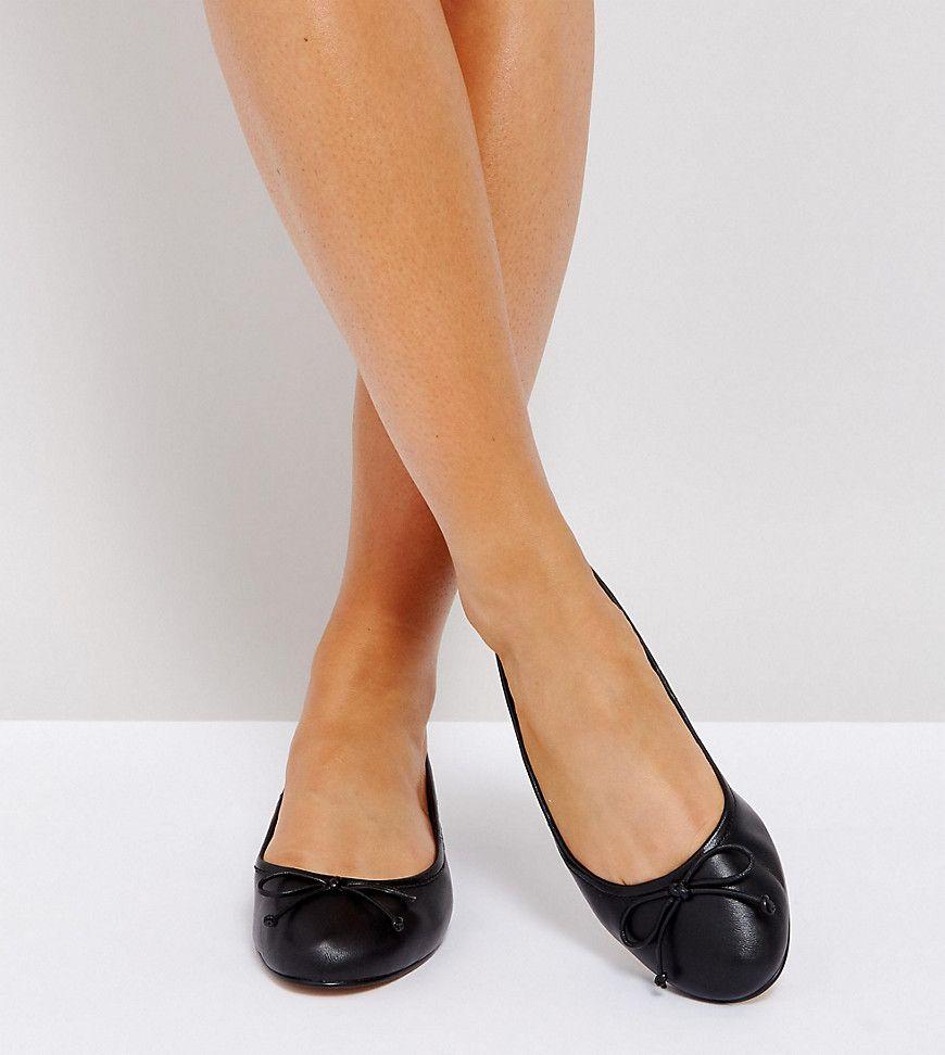 ASOS LIFESAVER Wide Fit Leather Ballet