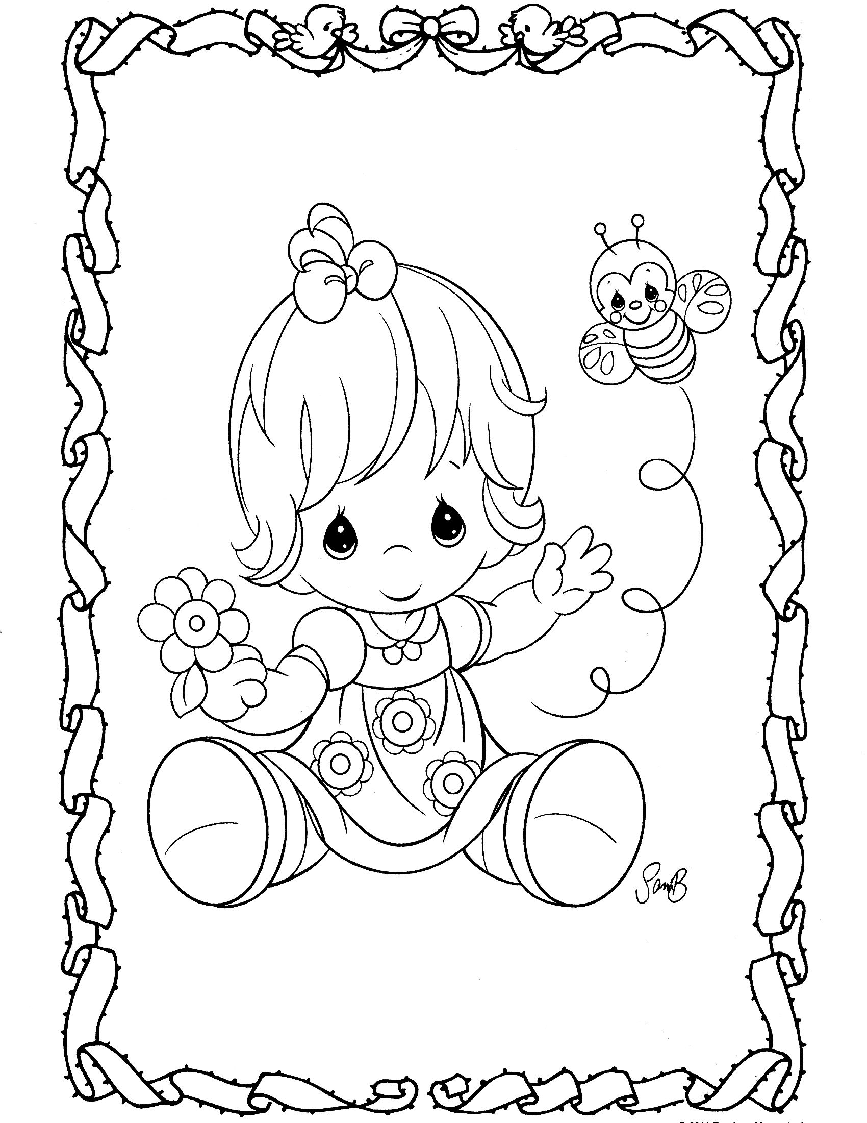 precious moments coloring page | {{Coloring Pages}} | Pinterest ...