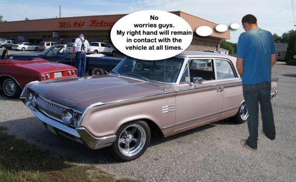 In the UK, a man can relieve himself on his back tire if his right hand is touching the car #FunnyLawFriday
