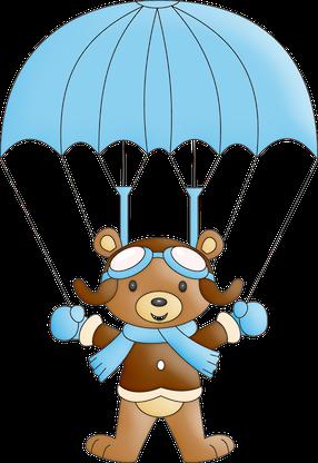 Ursinho Aviador Bear In Parachute Ursinho Aviador Aviador