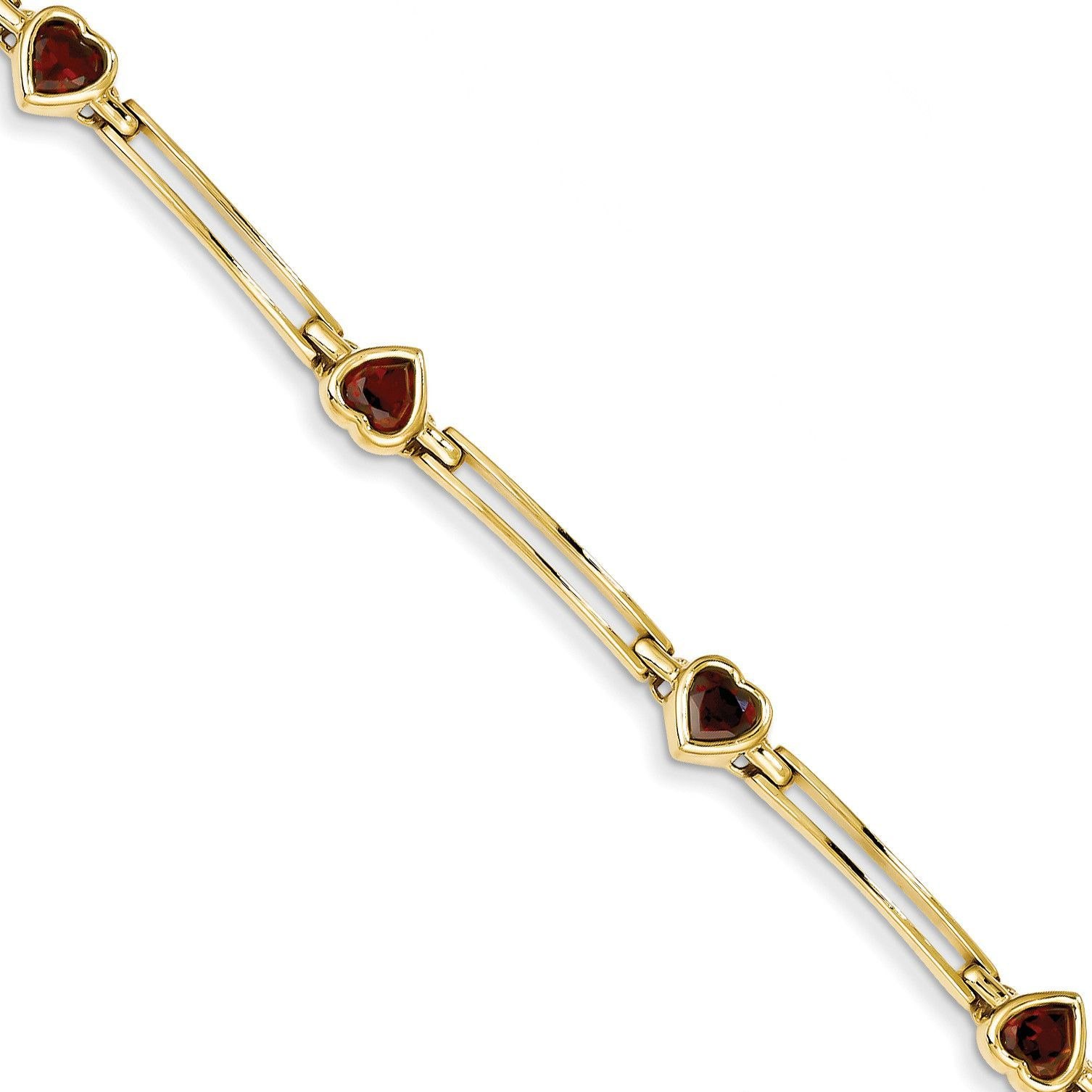 14k Garnet Bracelet ST1322GA