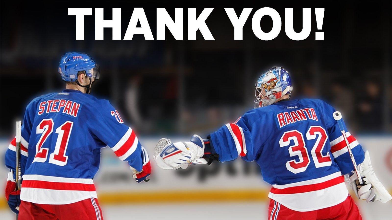Good Luck Step & Antti! New york rangers, Rangers hockey
