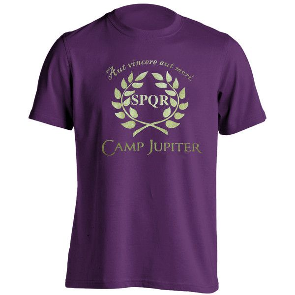 Camp JUPITER Tee s m l xl xxl - funny cool demigod Halloween costume... ($14) ❤ liked on Polyvore featuring men's fashion, men's clothing, tops, mens clothing and men's apparel