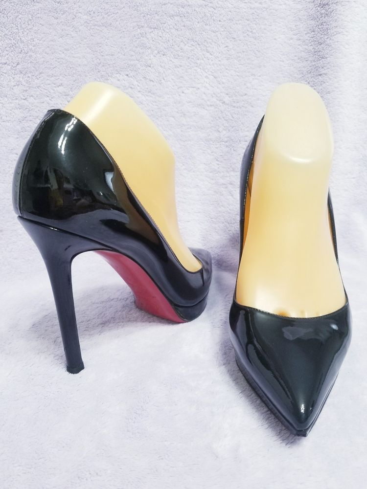 d29993261347 Christian Louboutin Black Patent Leather Heels Shoes Size 38  fashion   clothing  shoes  accessories  womensshoes  heels (ebay link)