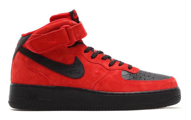 Nike Air Force 1 Mid Suede Croc Pack January 2015 Eu Kicks Sneaker Magazine Nike Air Force Nike Gear Nike