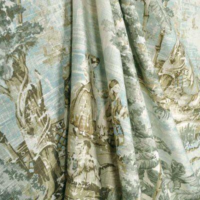 Covington Bosporus Flax Fabric | Curtains, Grey curtains ...