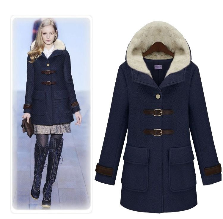 2012 women winter supper warm wool coat Fashion British style ...