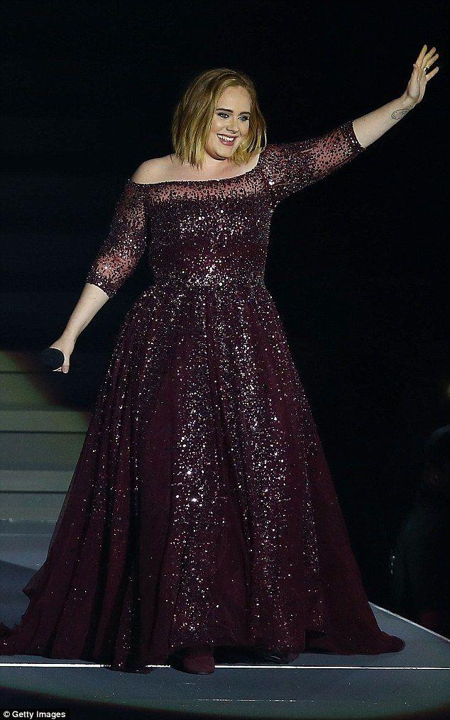 Adele\'s only concert dress has 10,000 Swarovski crystals | Adele ...