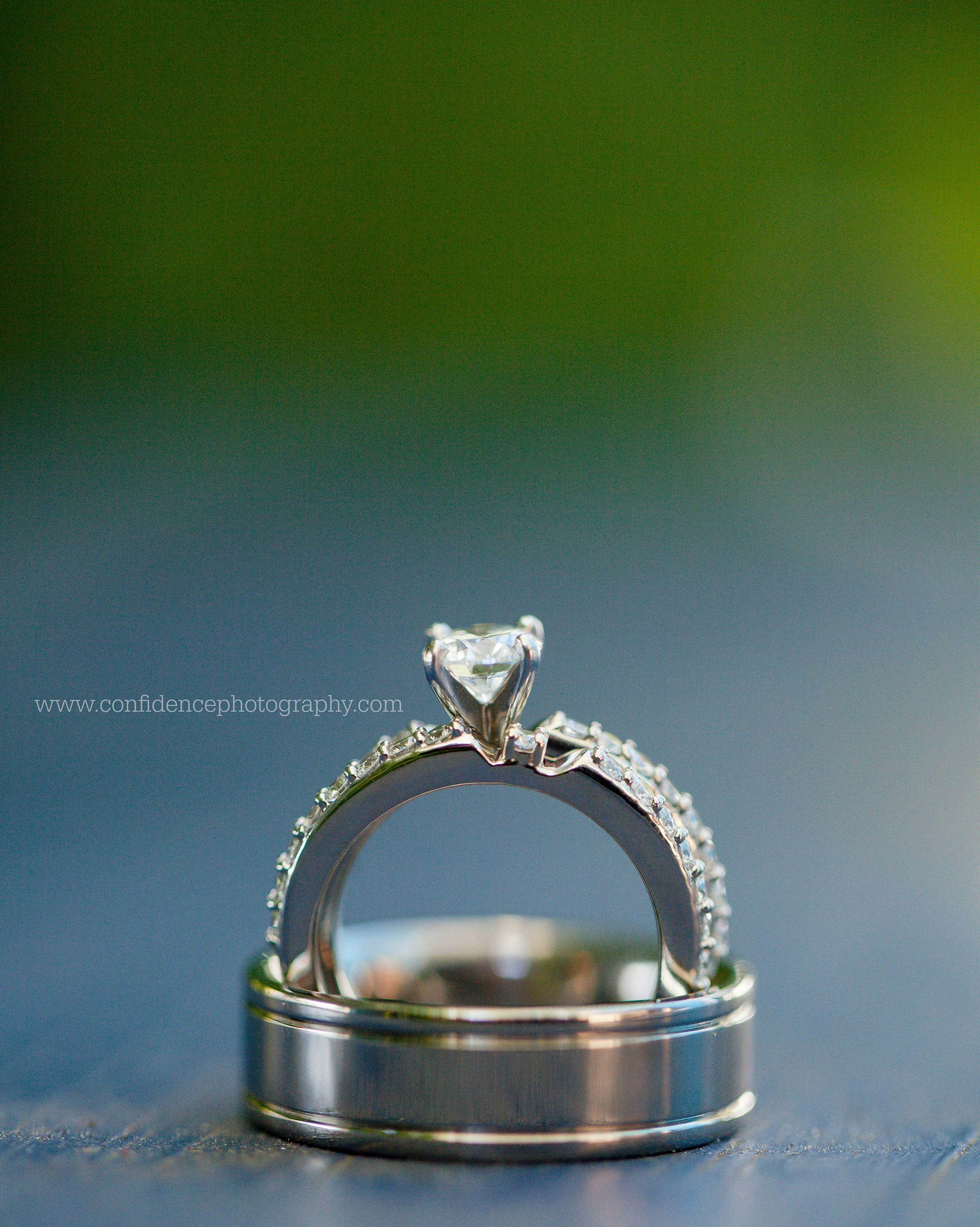 Ring Shot Creative Ring Shot Wedding Rings Confidence Photography