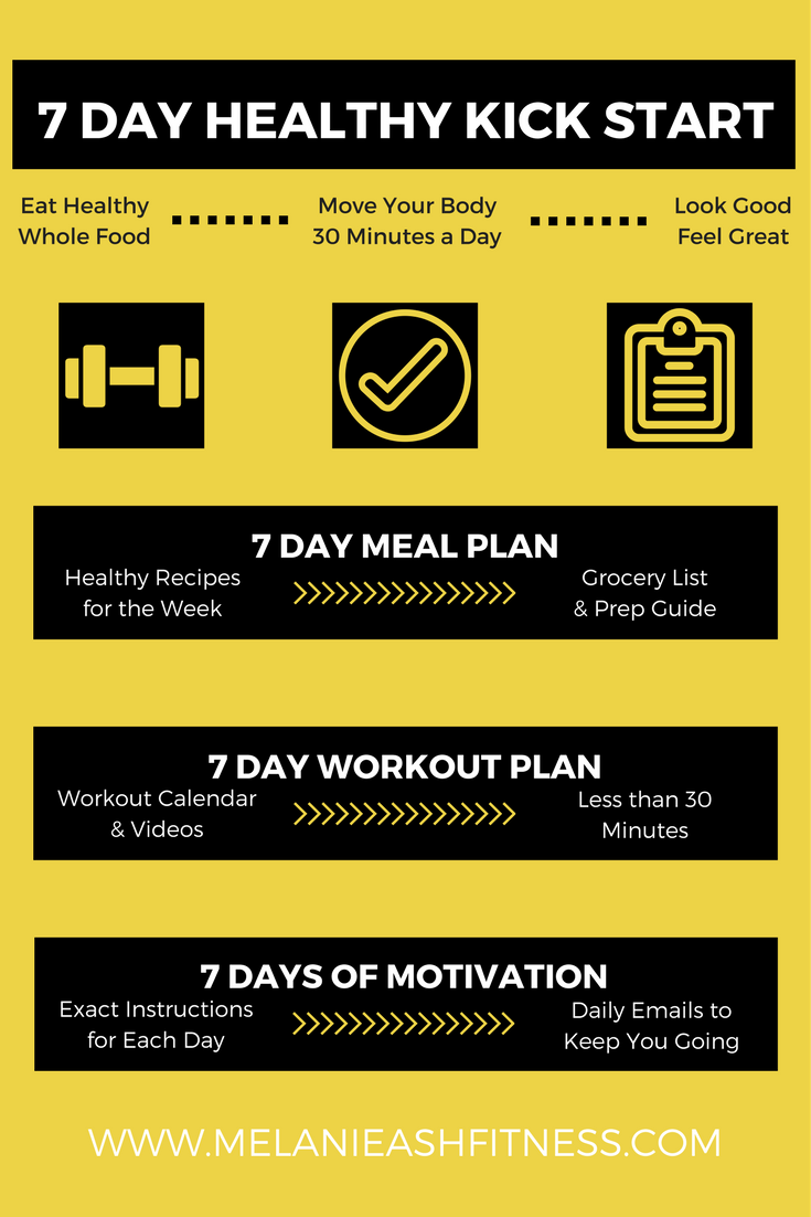 A 7 day diet and exercise plan full workout videos recipe list a 7 day diet and exercise plan full workout videos recipe list and food prep guide free diet exercise plan kickstart weight loss in one week nvjuhfo Image collections