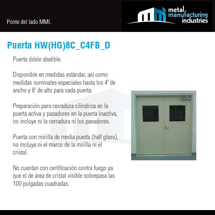 Nuestra puerta HW(HG)8C_C4FB_D es ideal para espacios que necesitan ...
