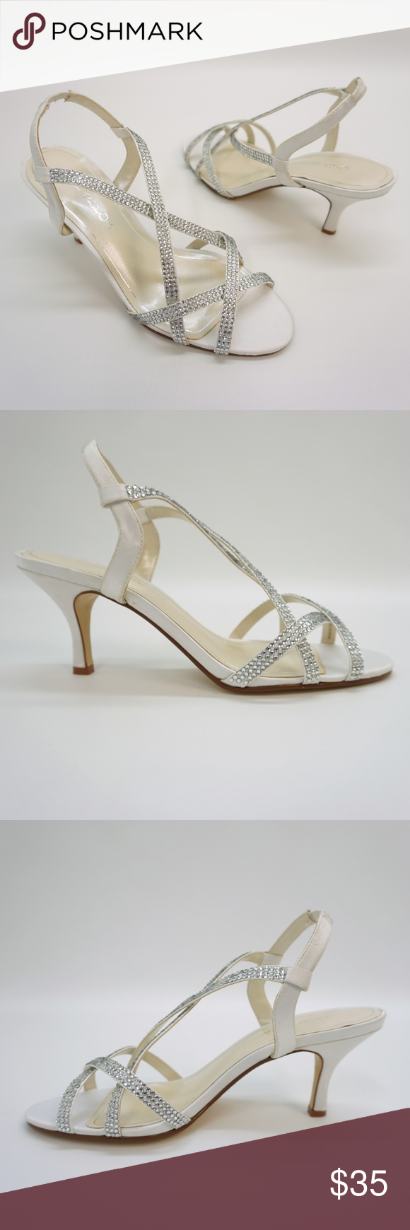 fa5fb707d4c Caparros Strappy Embellished Mid Heel Sandals 10   New Store Display  Handling Marks - see
