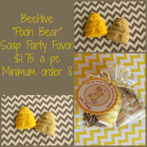 Beehive Pooh Bear Soap Favor. Perfect For A Birthday, Baby Shower,  Classroom Gift