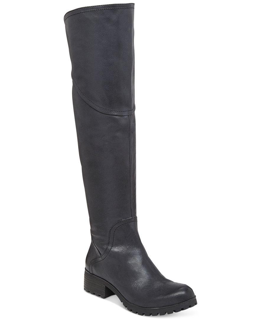 9e74e82301a Lucky Brand Women s Harleen Over-the-Knee Lug-Bottom Boots