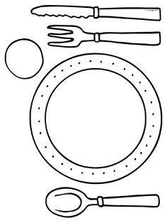 Utensilios en la mesa