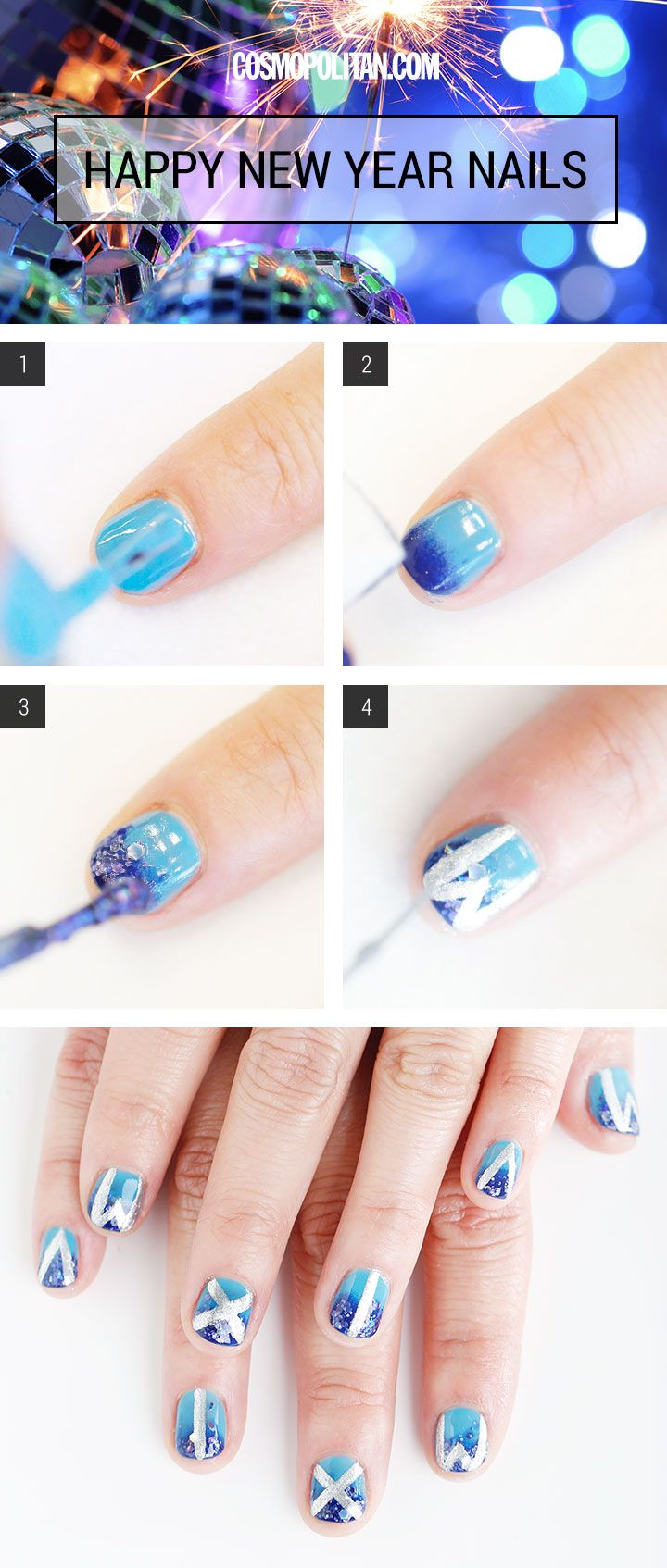 Nail Art HowTo New Year's Day Nails New years nail art